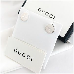 BRAND NEW authentic GUCCI trademark stud earrings